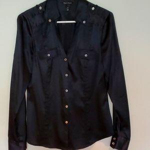 WHBM silk button down shirt